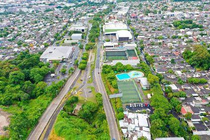 Obras Públicas, entrega proyecto de Sistema Urbano de Drenaje, en el bulevar Merliot, Santa Tecla