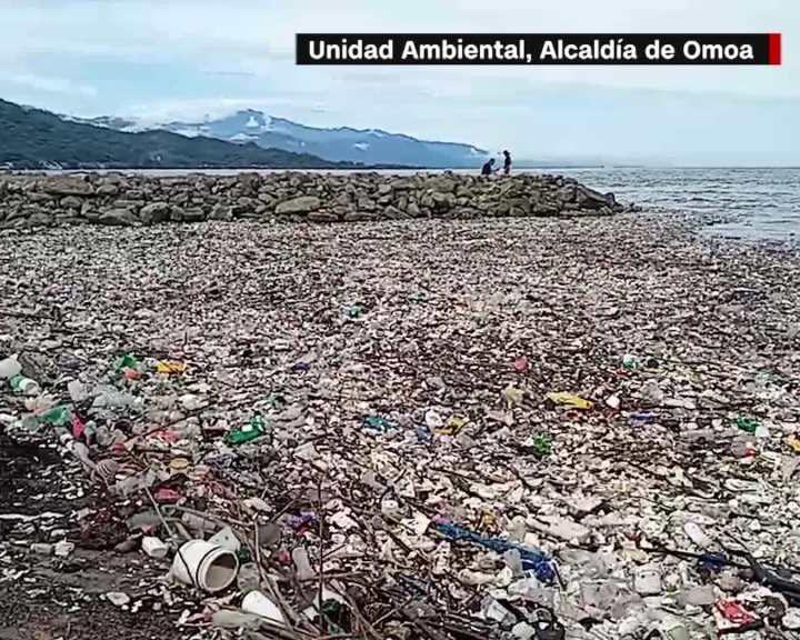 Guatemala acusada por Honduras de no contener ríos de basura