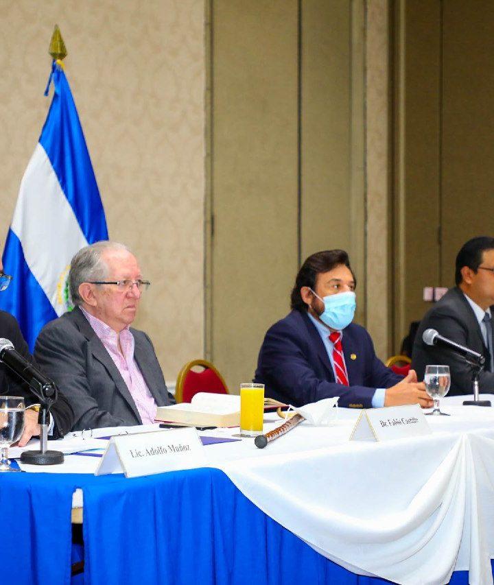 Ulloa presenta los miembros de la Mesa Ad – hoc para reformas a la Constitución