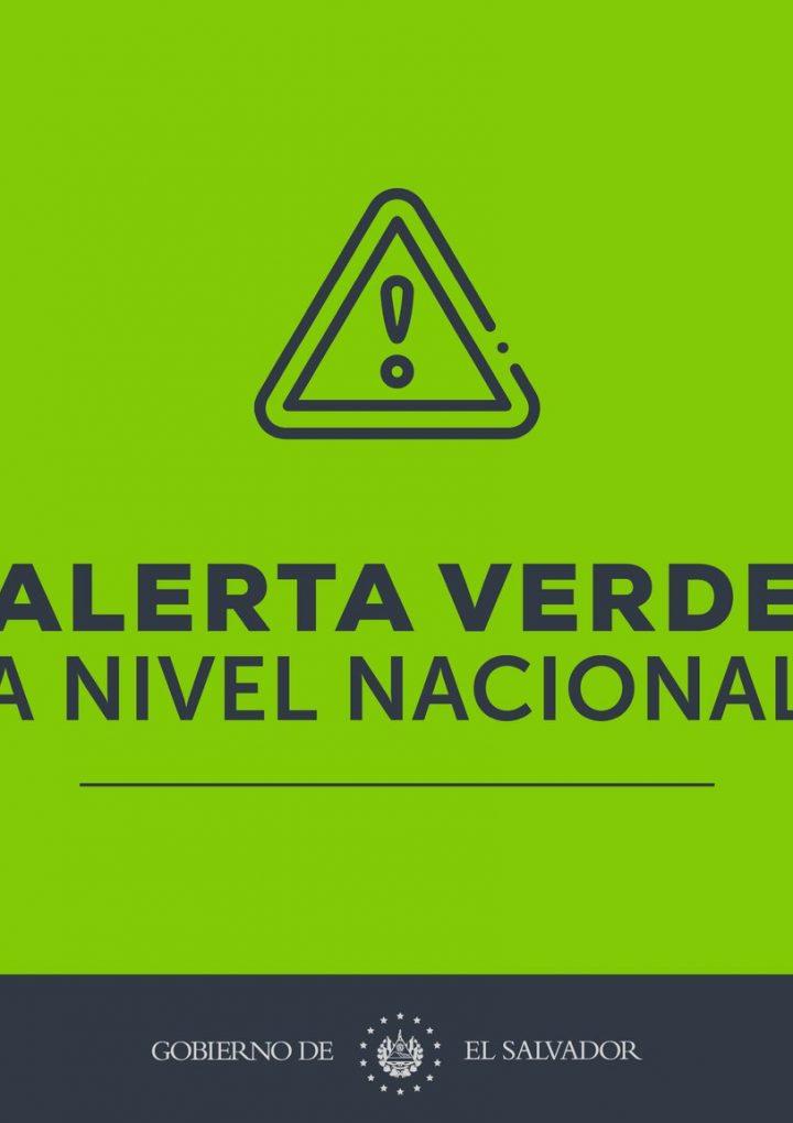El Salvador amanece con Alerta Verde