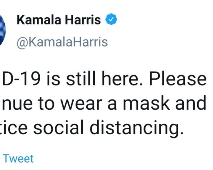 """Kamala  Harris llamó a la población a usar mascarillas """"para reducir los contagios y salvar vidas"""""""