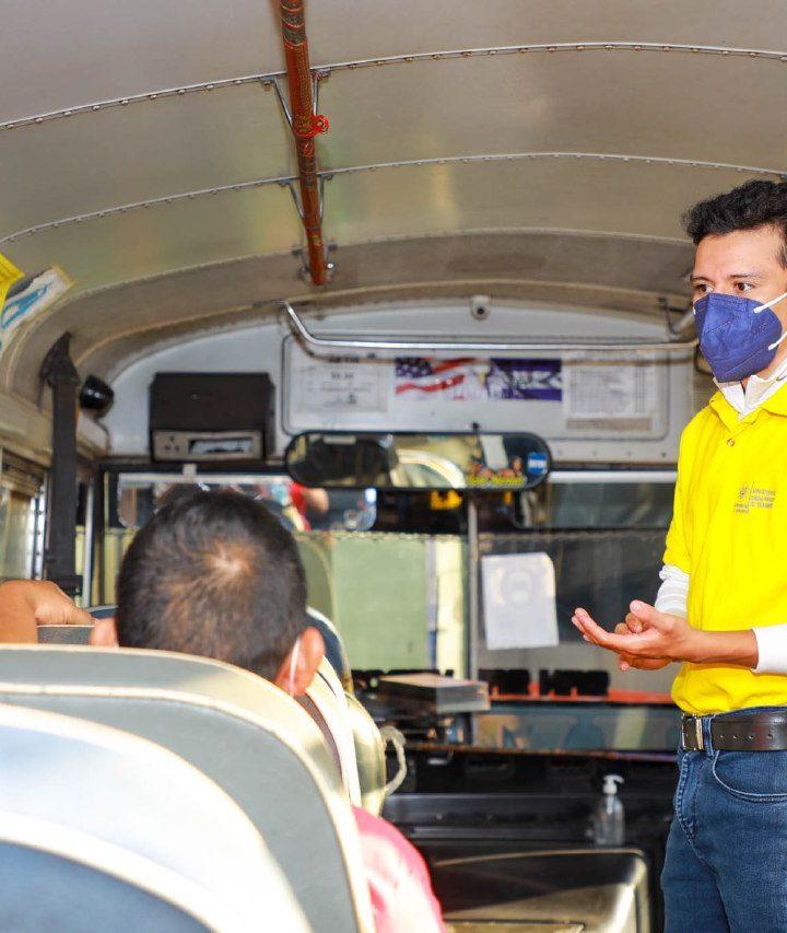 Autoridades del VMT recorren las diferentes terminales de buses del país para constatar que se cumplan las medidas de bioseguridad