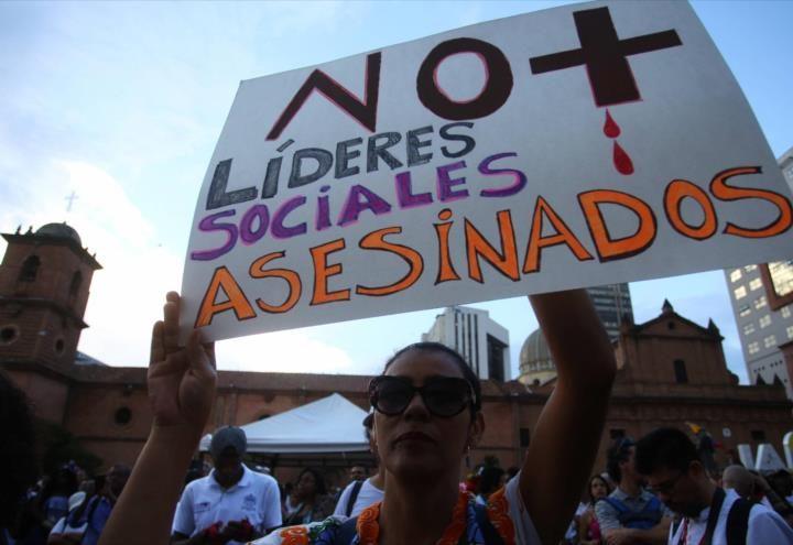Incrementan asesinatos de activistas sociales en Colombia