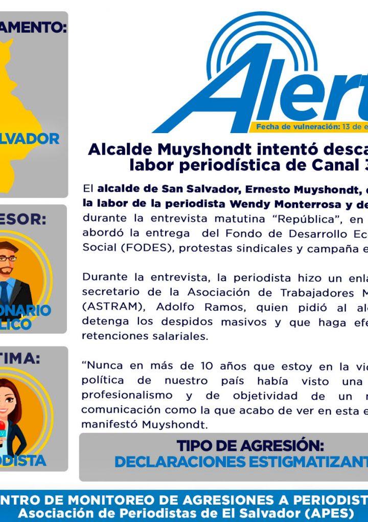 APES condena la actitud del alcalde Ernesto Muyshondt durante una  entrevista televisiva