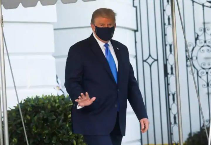 Se conoció que Trump estuvo cerca de utilizar respirador