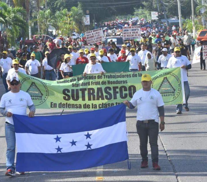 Trabajadores de Honduras exigen derechos salariales