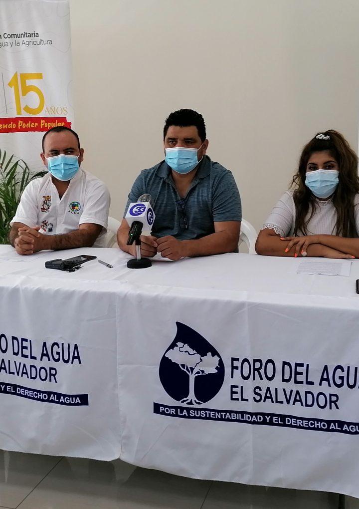 Presentan  resultados del estudio » Violaciones al Derecho Humano al Agua en el AMSS durante el período de cuarentena por COVID-19″