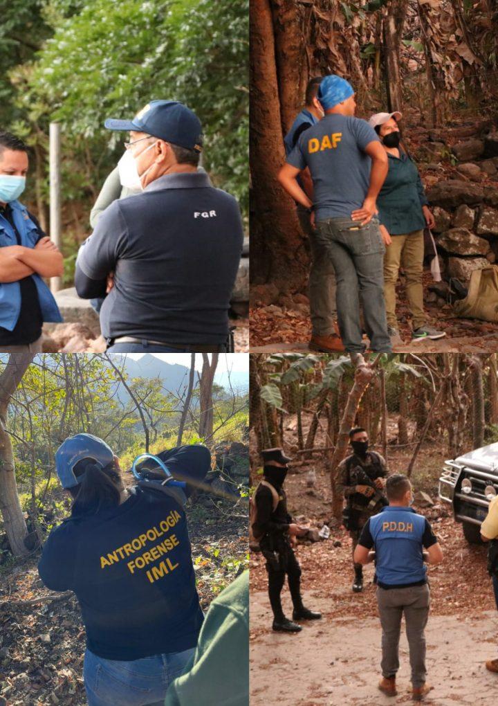 Inician proceso de exhumación en «Las Aradas», del Cantón Ojos de Agua en Chalatenango