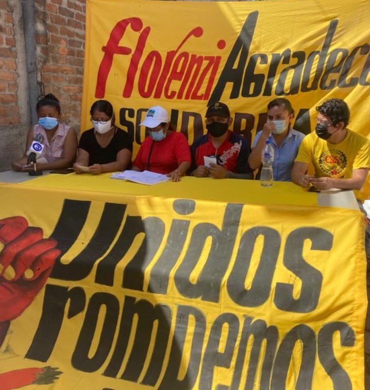 Exempleados de Industrias Florenzi levantan la huelga de hambre