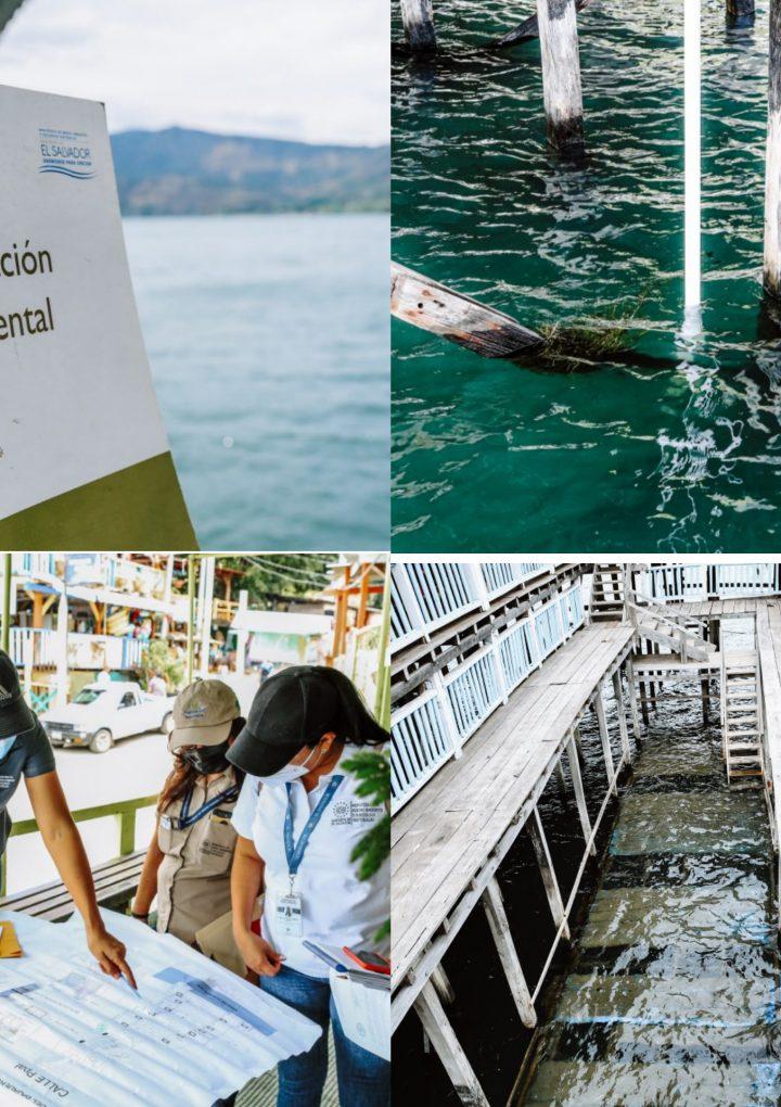 El Ministerio de Medio Ambiente entregó esquelas de notificación a 16 restaurantes del Lago de Coatepeque