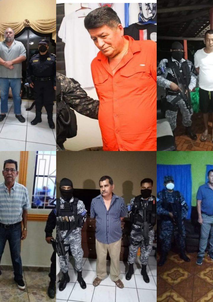 Alcaldes Zacatecoluca y San Rafael Obrajuelo, empresarios y agentes políciales fueron detenidos por supuestos delitos de corrupción