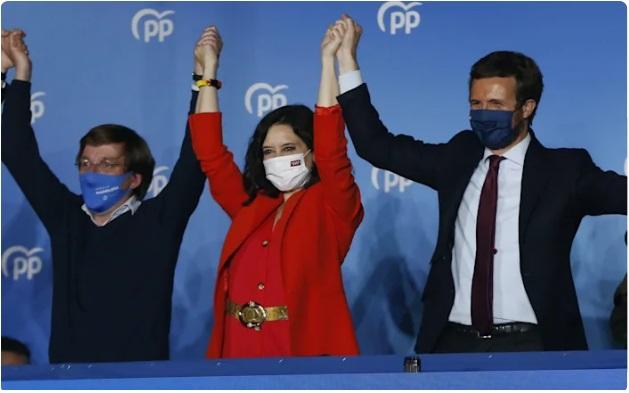 Partido Popular de España gana elecciones autonómicas en Madrid