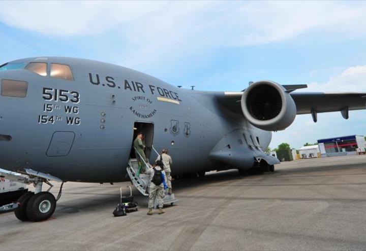 Avión de EEUU entrega un cargamento secreto a Israel