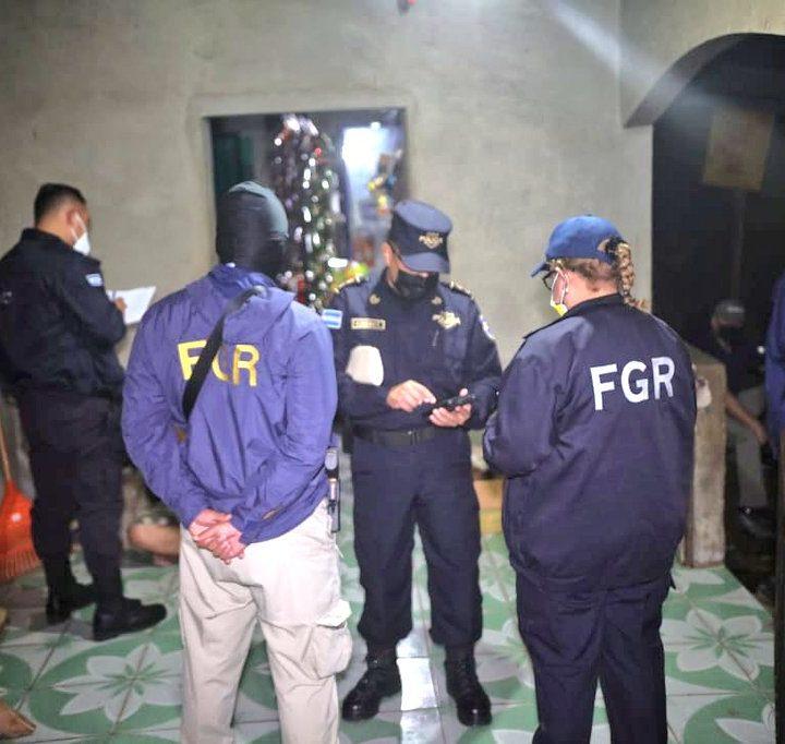 FGR realiza operativo en conjunto con la PNC para capturar 93 pandilleros