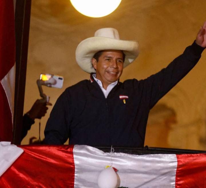 Pedro Castillo es electo como presidente de Perú