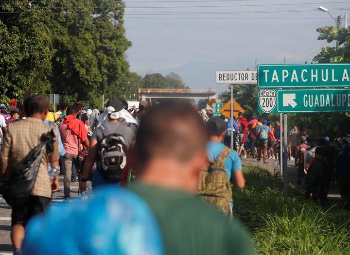 Nueva ola de migrantes llega a Tapachula este día
