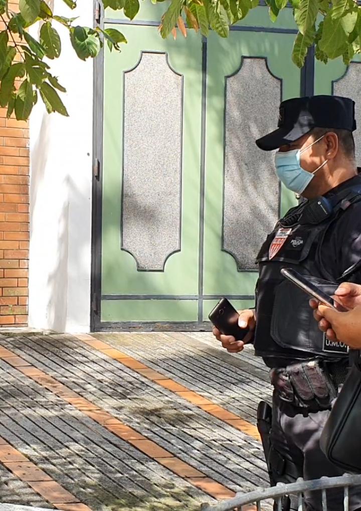 Hubo presencia policial en protesta frente a Embajada de Nicaragua en El Salvador