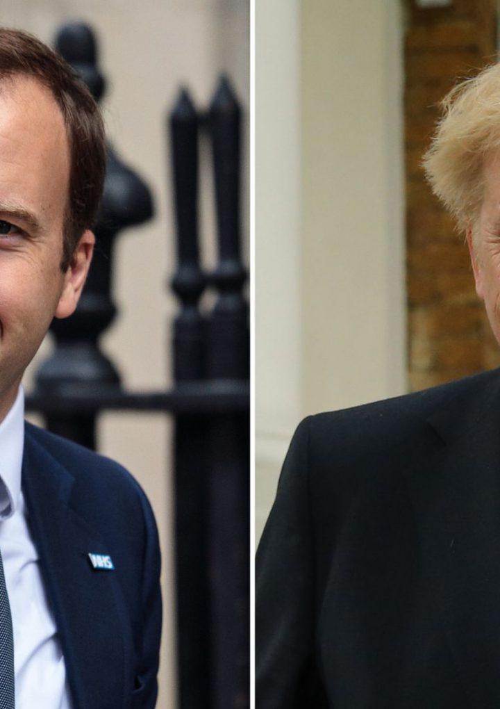 Boris Johnson llamó «un absoluto inútil» a su Secretario de Salud