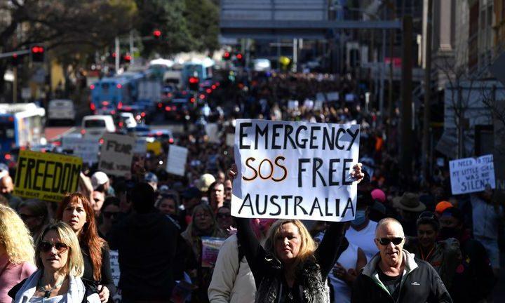 Protestas en principales ciudades de Australia por cuarentena obligatoria