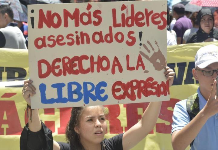 Colombia registra 52 defensores de derechos humanos asesinados