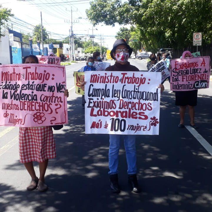 Trabajadoras y trabajadores de a Industria Florenzi exigen justicia en marcha