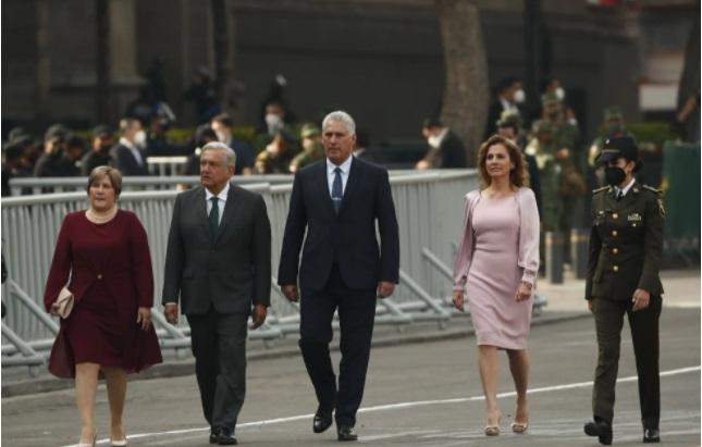 México se solidariza con Cuba y el presidente Díaz Canel