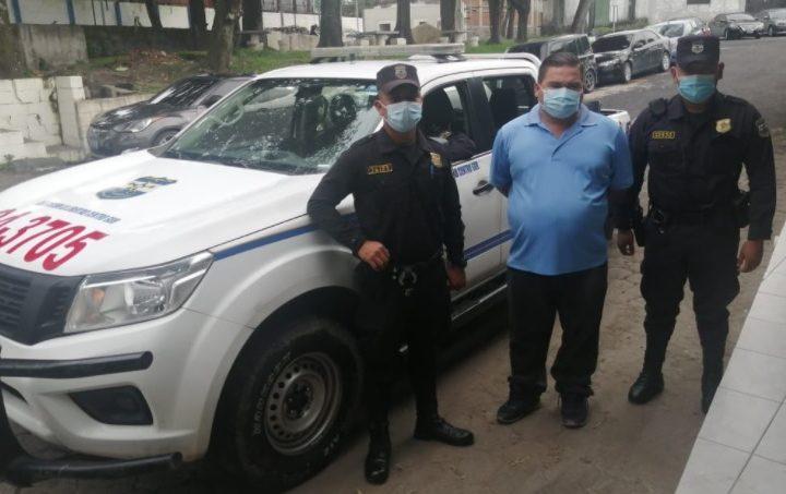 PNC captura a conductor que agredió a usuario del transporte colectivo