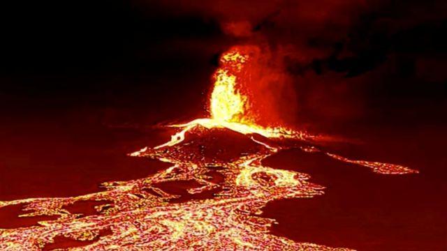 Continua erupción El Volcan en España