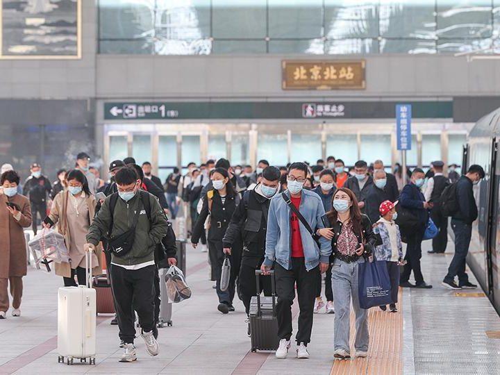 China registra 515 millones de viajes turísticos nacionales durante las vacaciones
