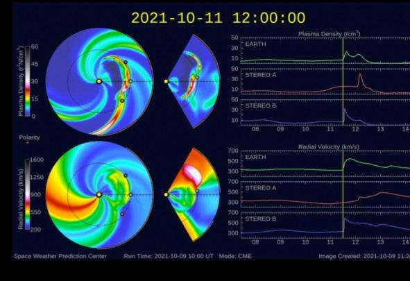 El mundo espera una tormenta geomagnética moderada este día