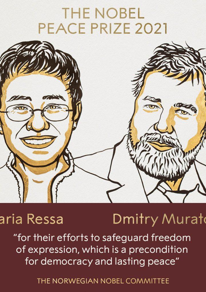 Periodistas reciben el Premio Nobel de la Paz